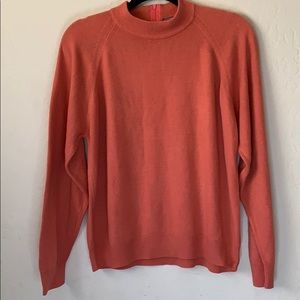 Coral long sleeve sweater